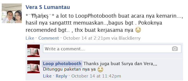 Testimoni photobooth